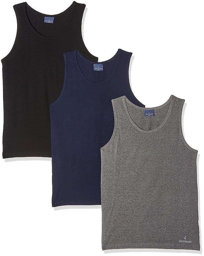 571, Camiseta para Hombre, Multicolor (Grigio/Nero/Navi), X-Large (Talla del Fabricante: 6), Pack de 3 Navigare