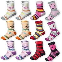 MC.TAM® Calcetines de Colores Medias Para Niñas 12 Pares 90% Algodón Oeko Tex® Standard 100, 31-34, 12 pares de medias…