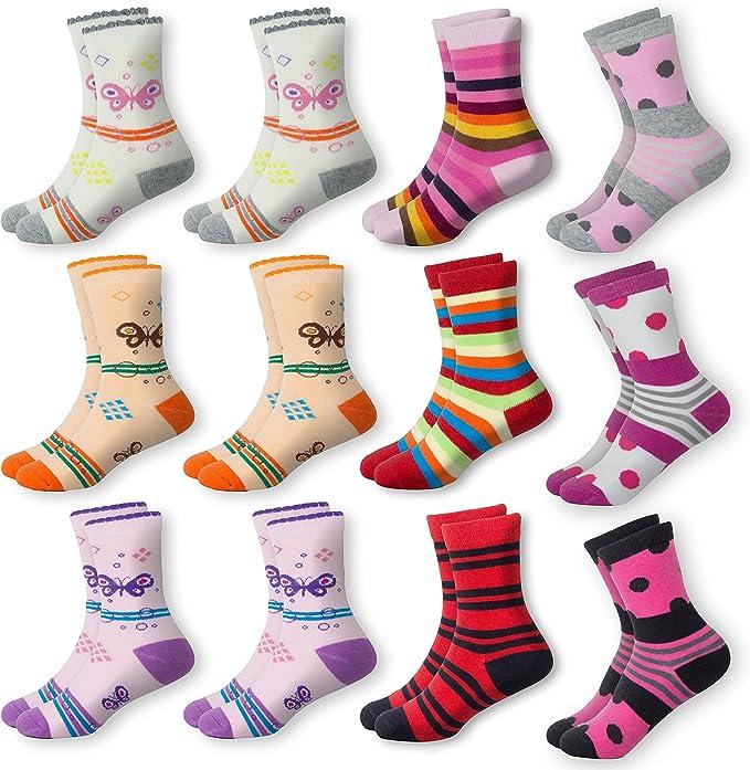 MC.TAM® Calcetines de Colores Medias Cortes Para Niños Niñas 6 y 12 Pares 90% Algodón Oeko Tex® Standard 100: Amazon.es: Ropa y accesorios