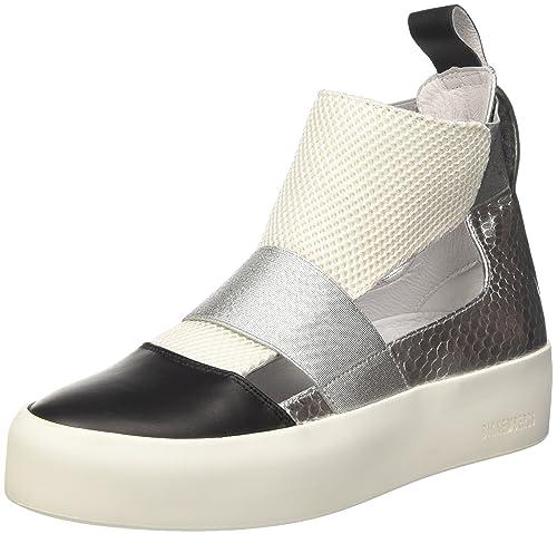 Bikkembergs Kate 853, Zapatillas Altas para Mujer, Negro (Silver/Pink), 40 EU: Amazon.es: Zapatos y complementos
