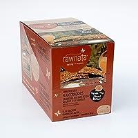 Rawnata Raw Manitoba Flax Crackers, High in Omega-3, 28g per Snack Pack, Cinnamon Goji, 12 Count