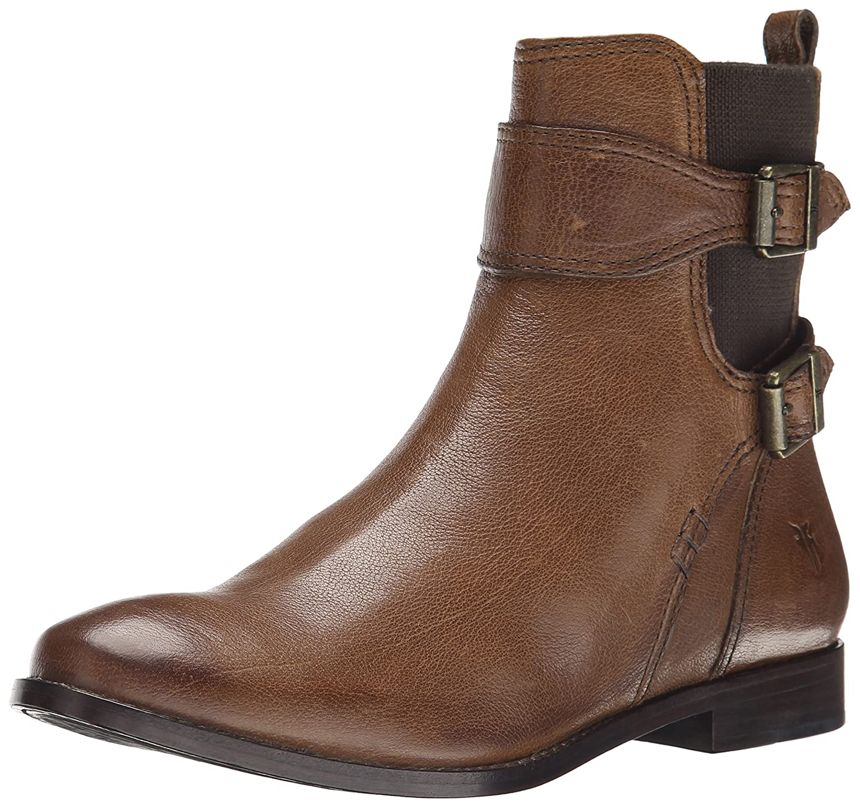FRYE Women's Anna Gore Short Buffalo Leather Boot B00R54WVGK 5.5 B(M) US|Whiskey-74651