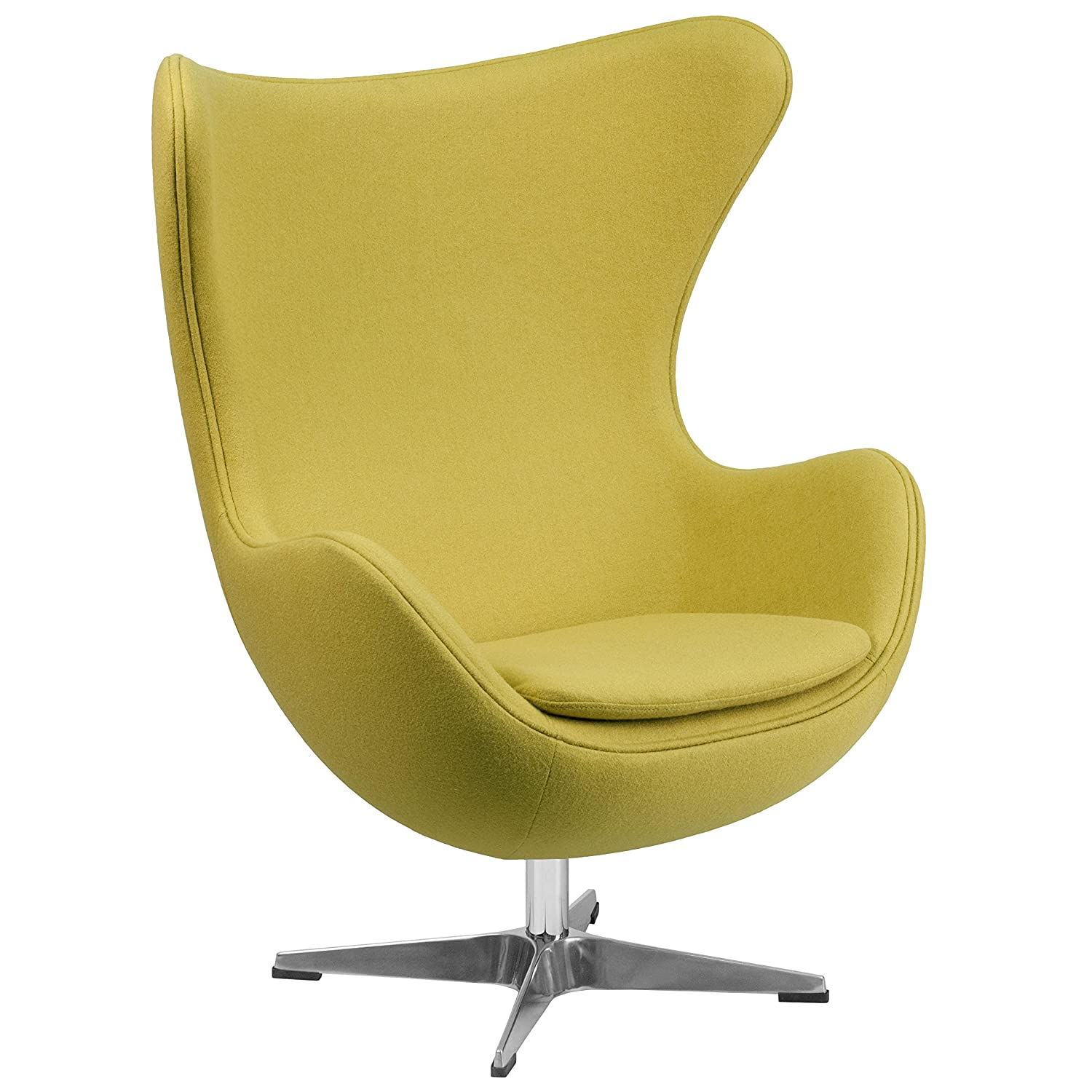 "Amazon Yellow Egg Chair ""Vela"" Retro Lounge Chairs fice"
