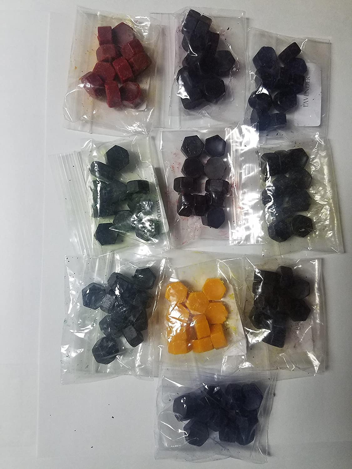 Candle Dye Chips Sample Set 100 Dye Chips 10 Colors Maple Street Candle