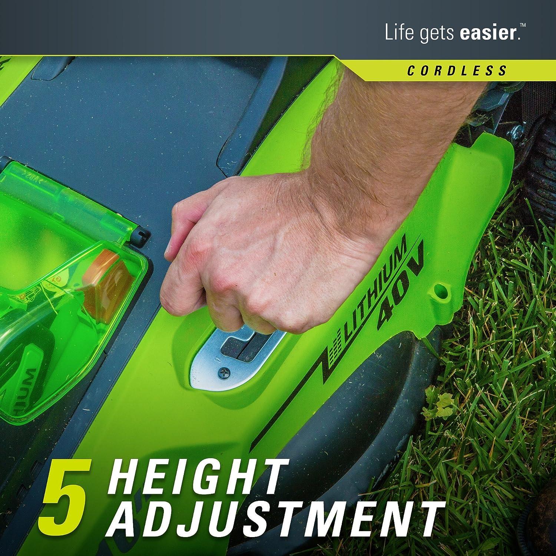 greenworks 16 inch 40v cordless lawn mower 4 0 ah