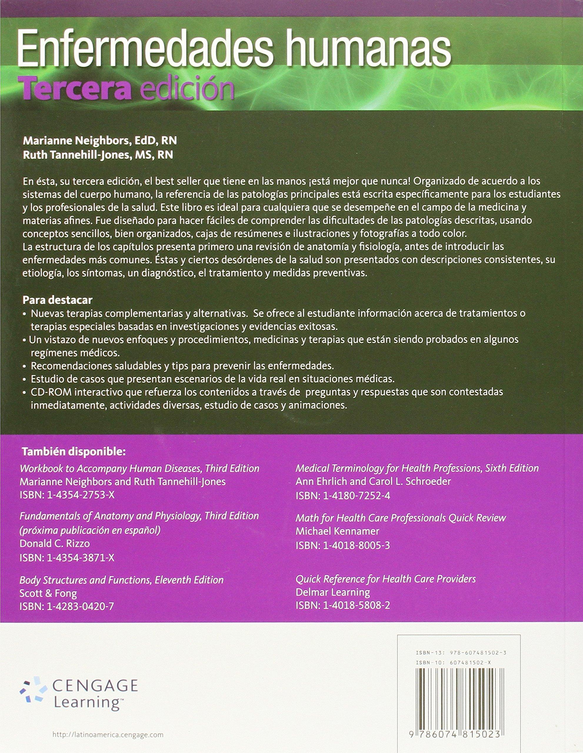 Enfermedades Humanas - 3ª Edición: Amazon.es: Marianne Neighbors: Libros
