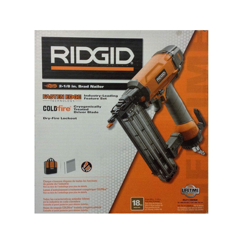 Ridgid R213BNE Brad Nailer, 18 Gauge, 2-1 8 , 3.625 x 12.93 x 12.375