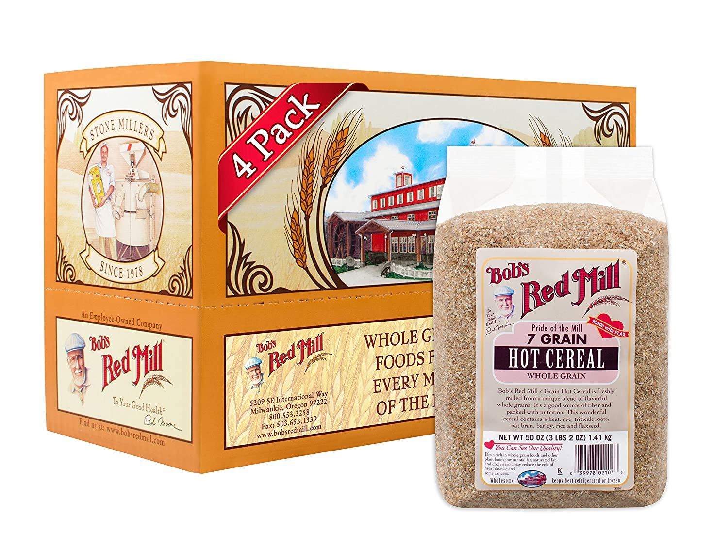 Amazon bobs red mill 7 grain cereal 25 ounce oatmeal amazon bobs red mill 7 grain cereal 25 ounce oatmeal breakfast cereals ccuart Gallery