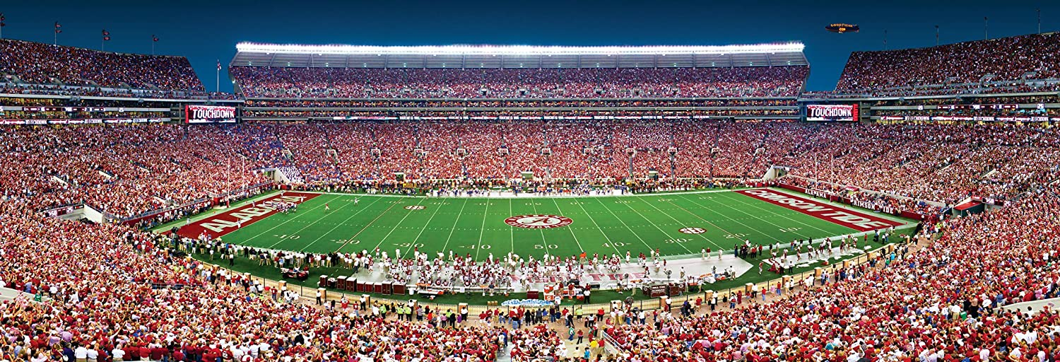 fcf1c5d9f9f Amazon.com  MasterPieces Collegiate Alabama Crimson Tide 1000 Piece Stadium  Panoramic Jigsaw Puzzle  Toys   Games