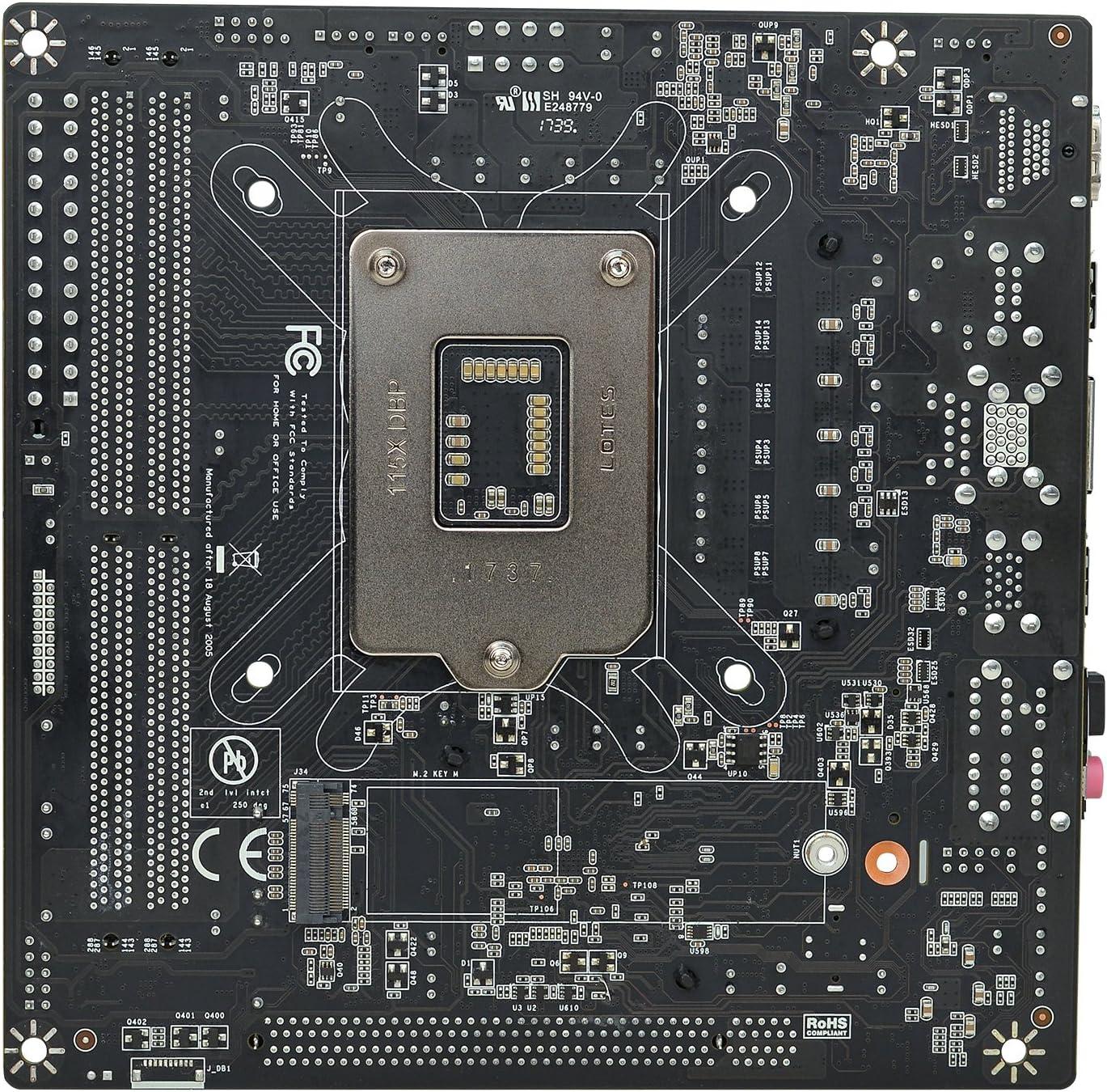 Intel Motherboard 111-CS-E371-KR Intel H370 LGA 1151 mITX SATA 6Gb//s EVGA H370 Stinger USB 3.1