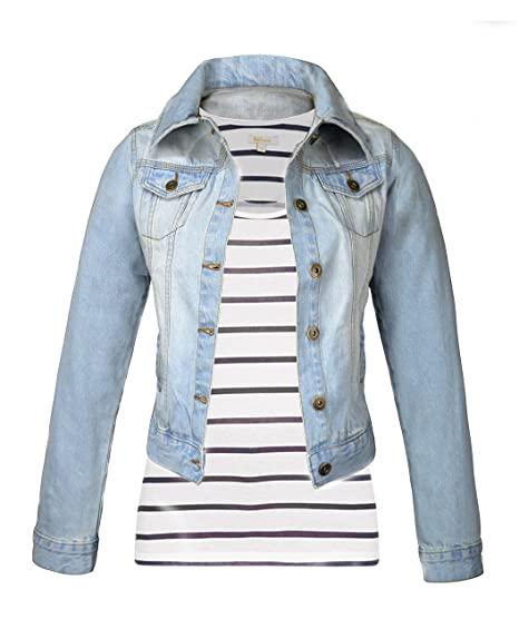 70ca0b6a655a8 MISSY New Plus Size Denim Jacket Womens Jean Jackets Ladies Cropped  Waistcoat 8-24 BLM (10