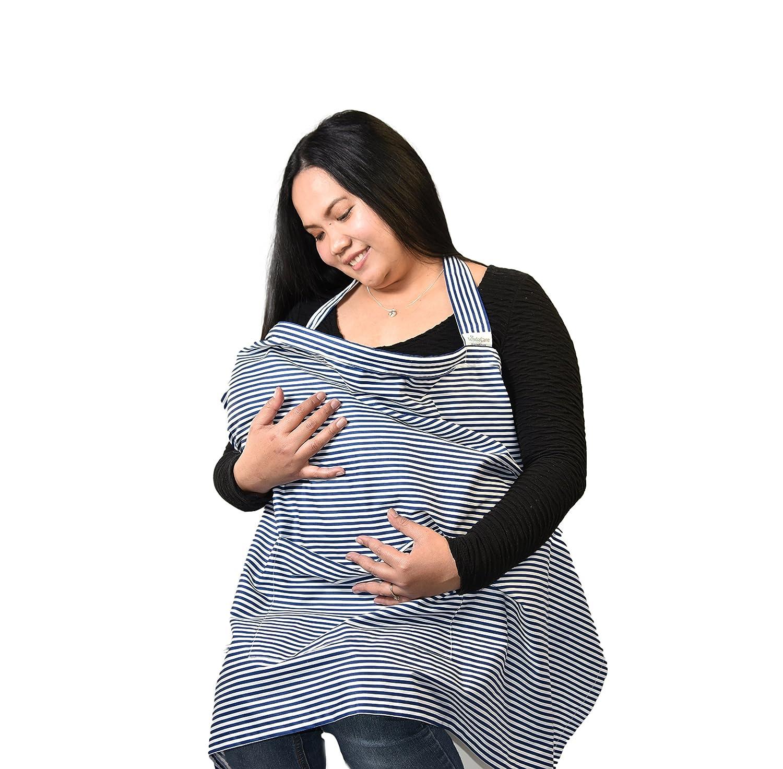 VENTE! - Housse d'allaitement - Tablier Flexible à baleines décolleté avec une poche - 100% naturel Coton doux - Meilleure Couverture - allaiter bébé Discrètement avec Confiance en Public TendaCare