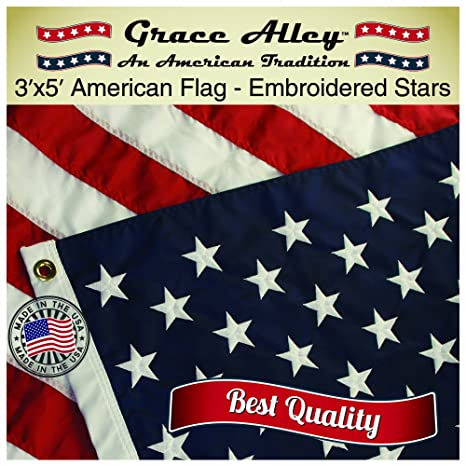 amazon com grace alley american flag american made by 3x5 ft us