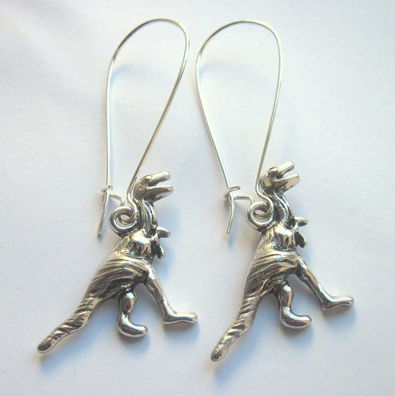 Dinosaur Earrings Silver Plated Nickel And Lead Free Sensitive Skin