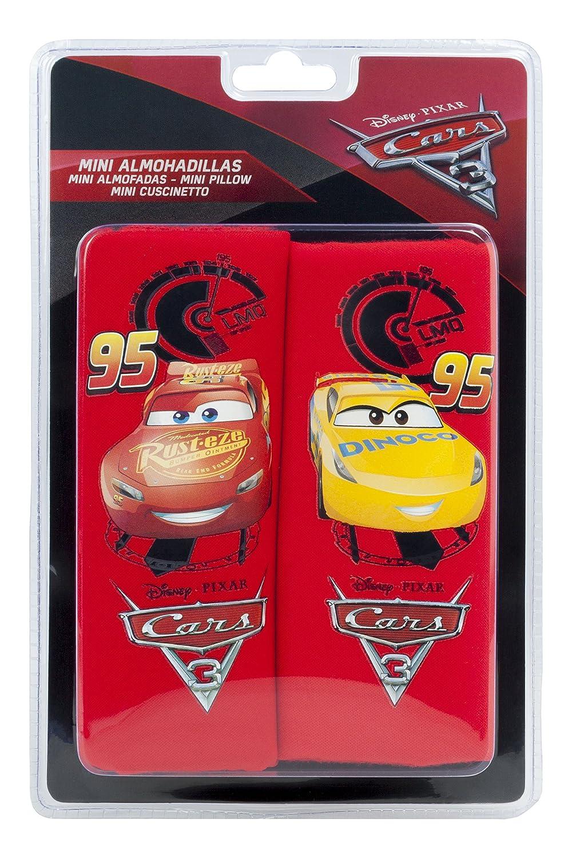 Set di 2 Cars CARS102 Mini Cuscinetti Proteggi Cintura Rosso