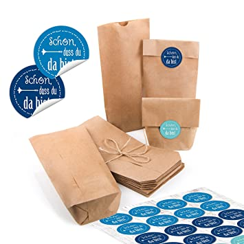 24 pequeñas bolsas de papel natural marrón papel kraft 10,7 ...