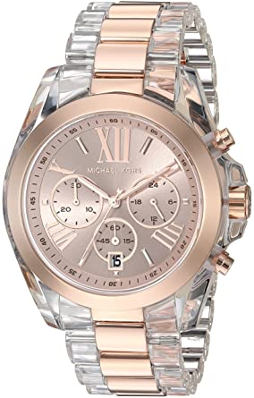 8f4decf6d198 Image Unavailable. Image not available for. Color  Michael Kors Women s  Bradshaw Rose Gold-Tone Watch MK6358