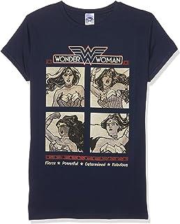 Official DC Comics Wonder Woman  Retro Squares T Shirt Womens Skinny NEW