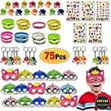 75 Pack Baby Shark Party Favors | Doo Bag - Face Mask, Hand Tattoo, Finger Ring, Key Chain, Wrist Bands | Shark Themed…