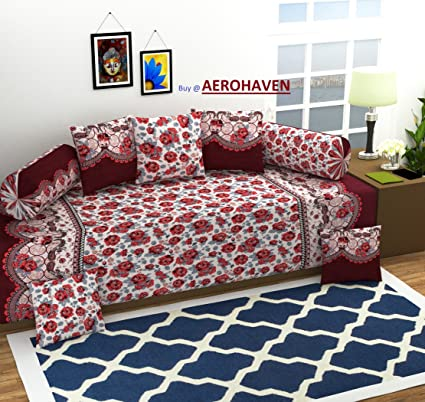 Aerohaven 3D Luxury Designer Printed 8 Piece 180 TC Microfibre Bedding Set - Abstract, Red