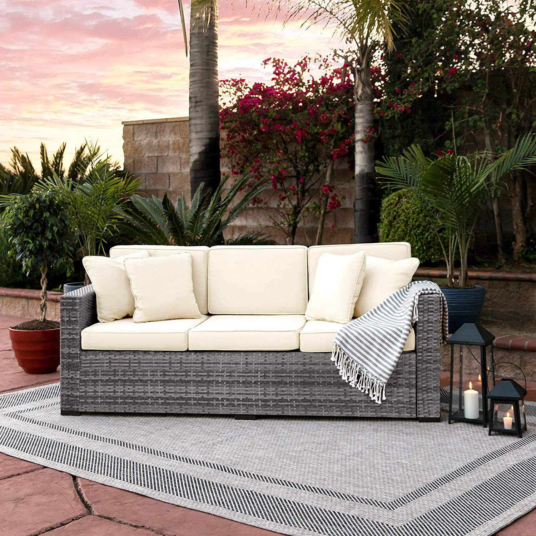 Amazon.com: Best Choice Products muebles, sofá de 3 ...