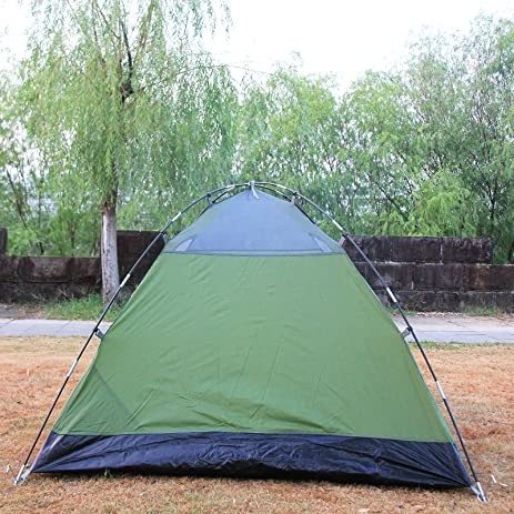 Amazon.com  2 Person Double Layer Waterproof C&ing Backpacking Tent - Army Green  Sports u0026 Outdoors & Amazon.com : 2 Person Double Layer Waterproof Camping Backpacking ...