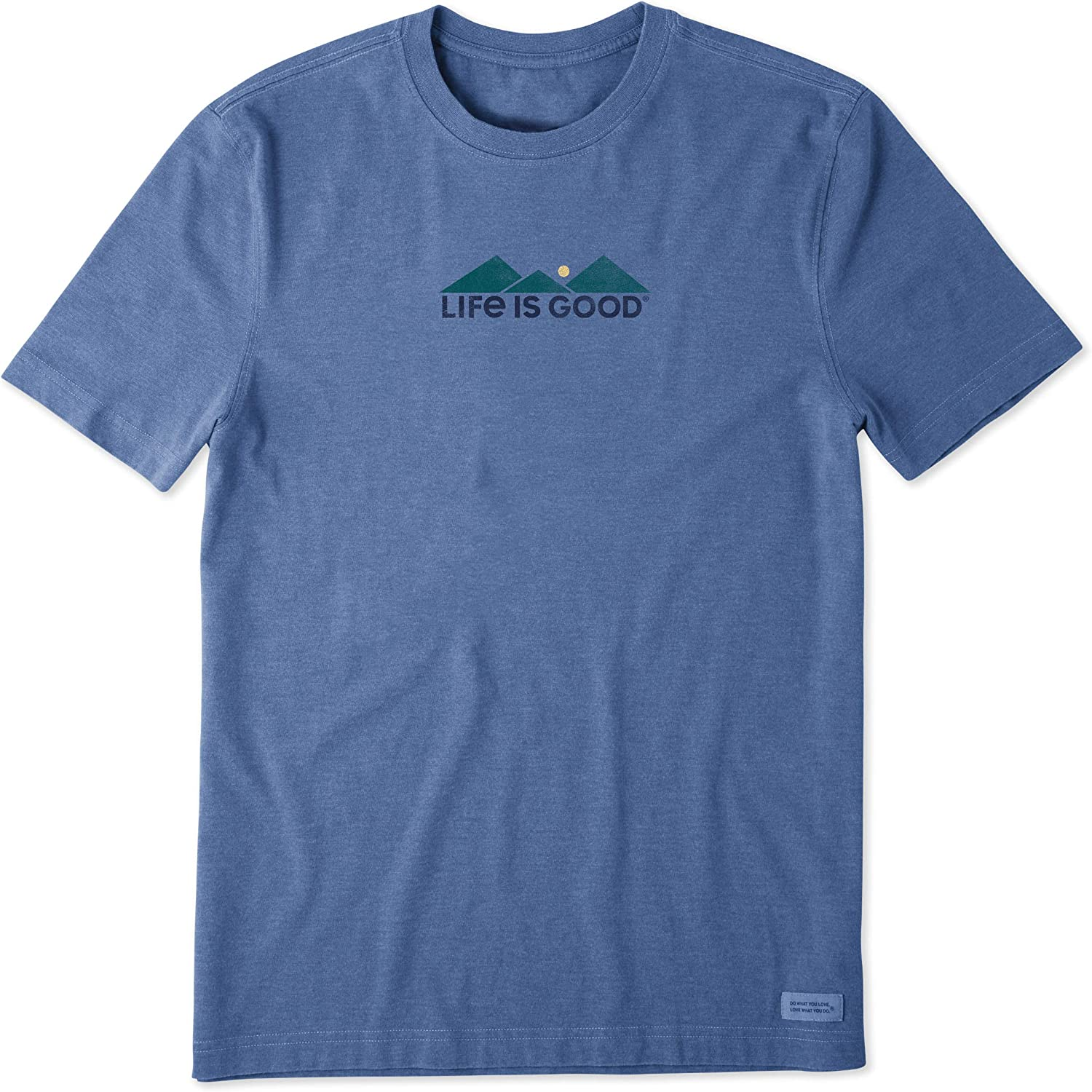 Life is Good Mens Mens Crusher Tee: Outdoors