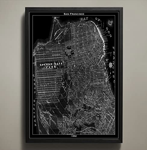 Amazon.com: San Francisco Map Print, Wall Art for your Home or