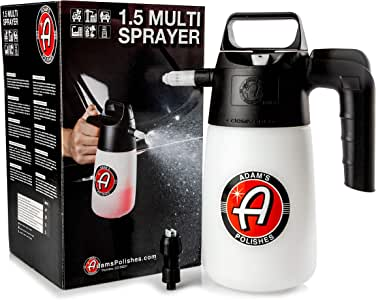 Adam's 1.5 Pump Multi Sprayer 35oz - Easy to Use Design - Easily Spray Your Entire Vehicle with Your Favorite Spray Wax, Detailer, Sealant, Cleaner, and More (Multi Sprayer)