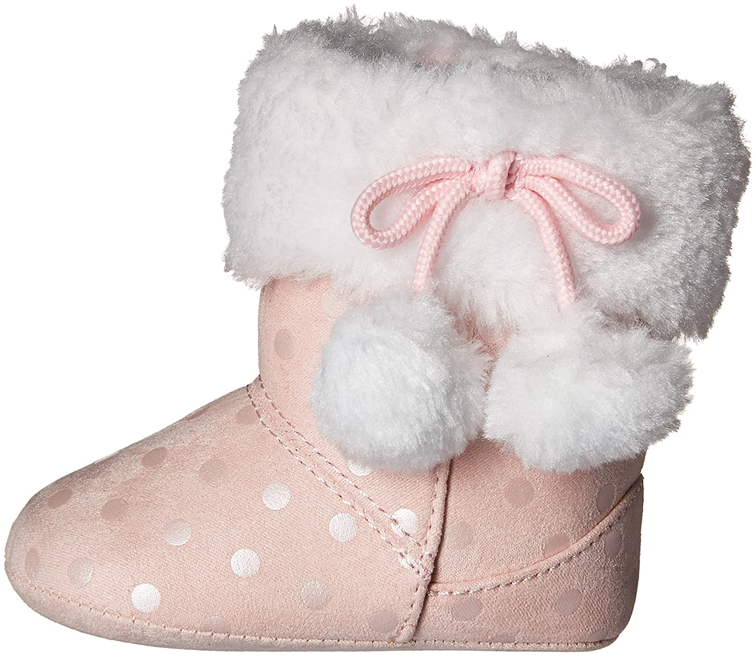 Baby Deer Dots and Fur Collar Boot