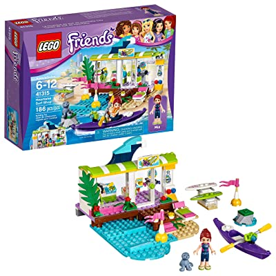 LEGO Friends Heartlake Surf Shop 41315 Building Kit (186 Pieces): Toys & Games
