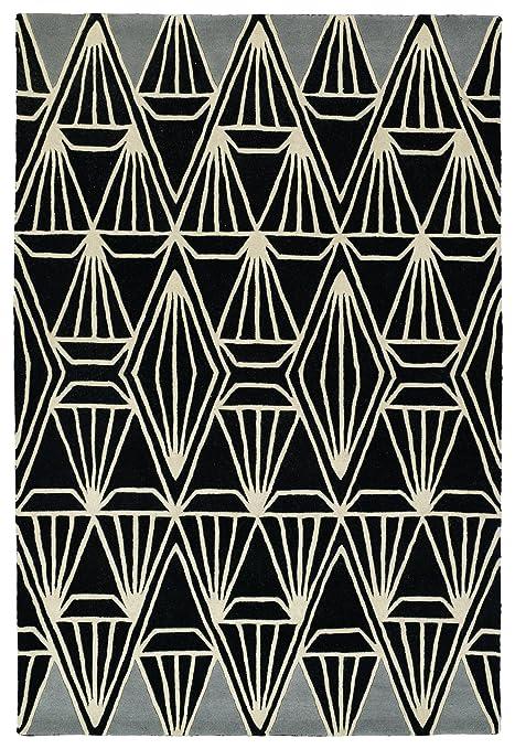 Amazon.com: Origami Alfombra en negro, Lana, Negro: Kitchen ...