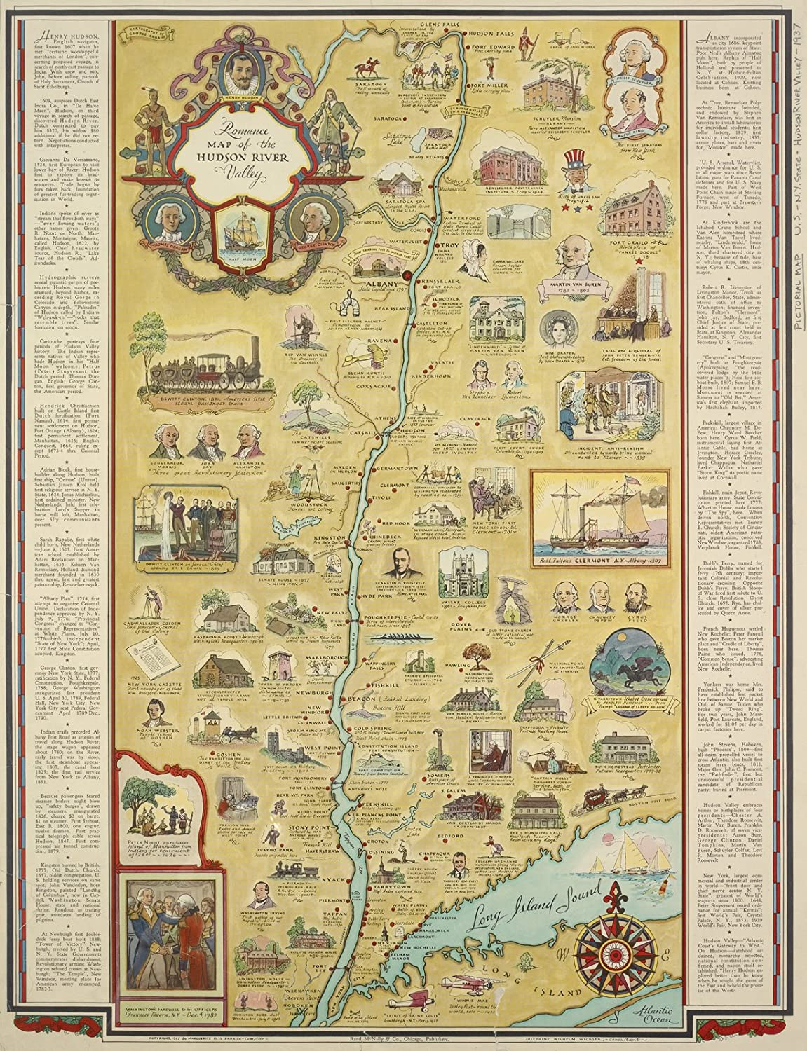 Amazon.com: Map Poster - Romance map of the Hudson River ... on map of missaukee county, map of aquinas, map of iron river, map of st. peter, map of caro, map of boyne falls, map of dilworth, map of olivet, map of brethren, map of pinconning, map of lenawee county, map of excelsior springs, map of ohio wesleyan, map of pelican rapids, map of alex, map of siena heights university, map of vassar, map of bates county, map of eastpointe, map of norwood young america,
