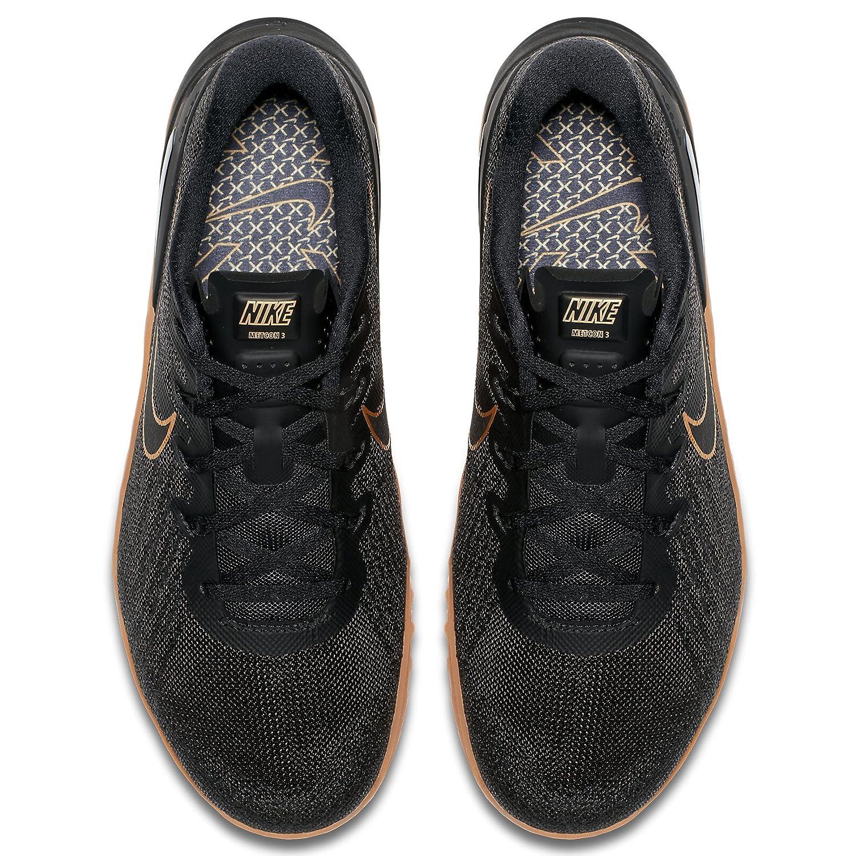 2097b3dfd9538 Nike Metcon 3 X AH7106-070 Black Metallic Gold Men s Training Shoes Size   M  Amazon.co.uk  Shoes   Bags