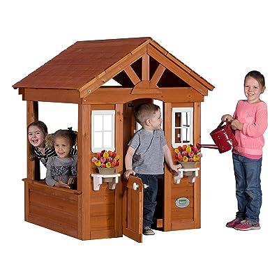 Backyard Discovery Columbus All Cedar Wood Playhouse: Toys & Games