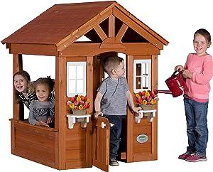 Backyard Discovery Columbus All Cedar Wood Playhouse