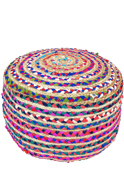 Orientalischer runder pouf aus Jute Jute Jute 50cm inklusive Füllung   Marokkanisches Sitzkissen Sitzpouf Kissen rund Guwahati ø 50cm Rund   Orientalisches rundes Yogakissen Meditationskissen 5b686f