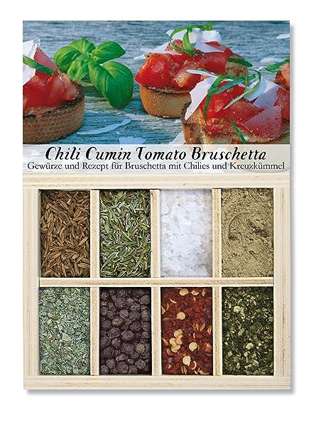 Feuer & Glas Receta e Ingredientes para Bruschetta con Chiles y Comino, ...