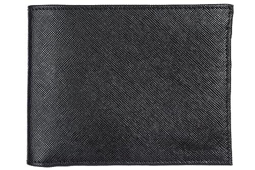 Prada cartera billetera bifold de hombre en piel nuevo negro: Amazon.es: Zapatos y complementos