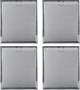 """WB6X486 Microwave Grease Filters Replacement Parts by Podoy Compatible with GE Hotpoint Kenmore - 9"""" X 7.75"""" Range Oven Hood Aluminum Filter (Pack of 4)"""