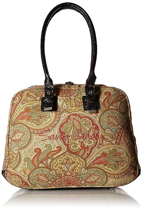 Amazon.com  Sassy Caddy Women s Groovy Messenger Bag, Coral Light ... b64062ca23