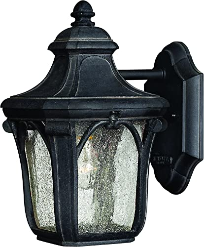 Hinkley 1316MB Traditional One Light Wall Mount from Trafalgar collection in Blackfinish,