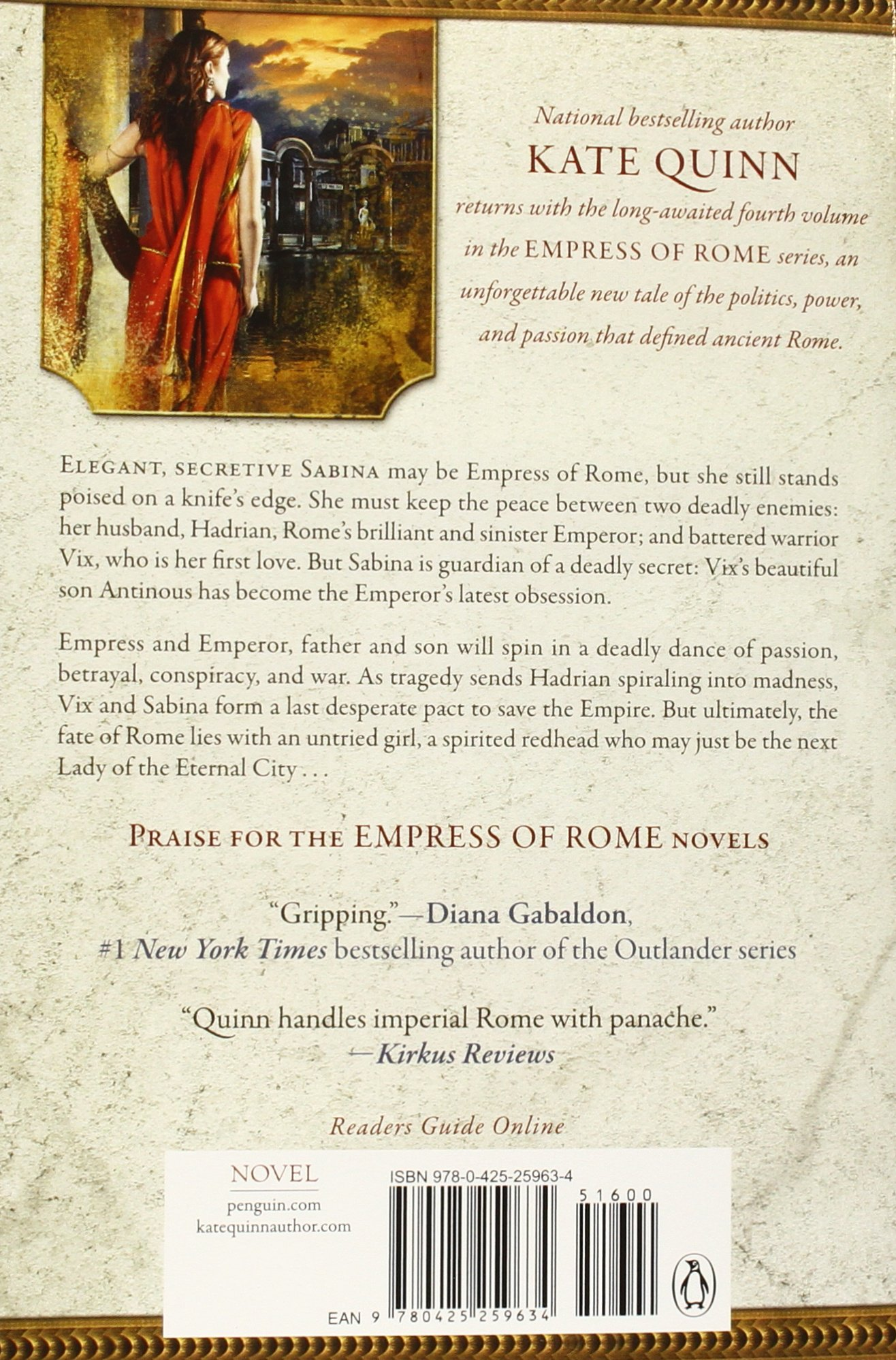 Lady Of The Eternal City (empress Of Rome): Kate Quinn: 9780425259634:  Amazon: Books