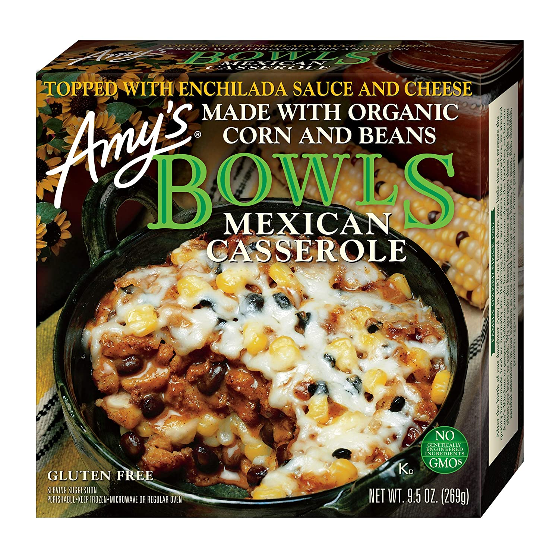 Amy's Frozen Bowls, Mexican Casserole, Gluten free, 9.5 oz.