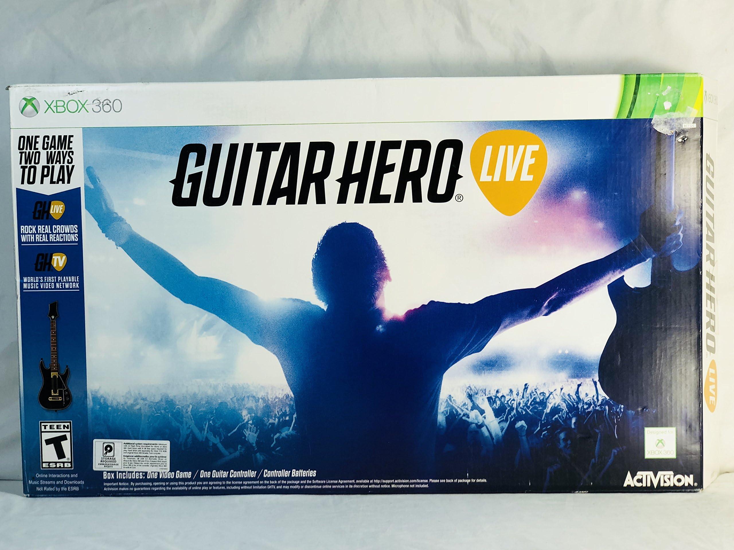 Amazon com: Guitar Hero Live Xbox 360 Game, Gaming