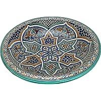 Alcazar - Plato de cerámica marroquí pintado a