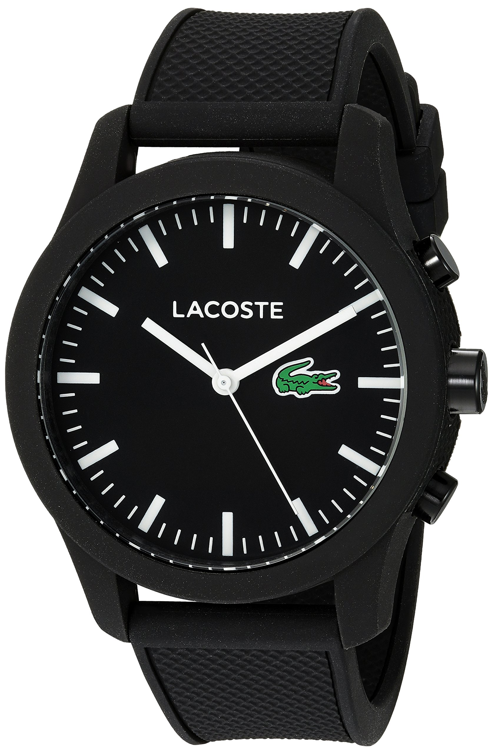 Lacoste Men's '12.12-TECH' Quartz Plastic and Rubber Smart Watch, Color:Black (Model: 2010881) by Lacoste