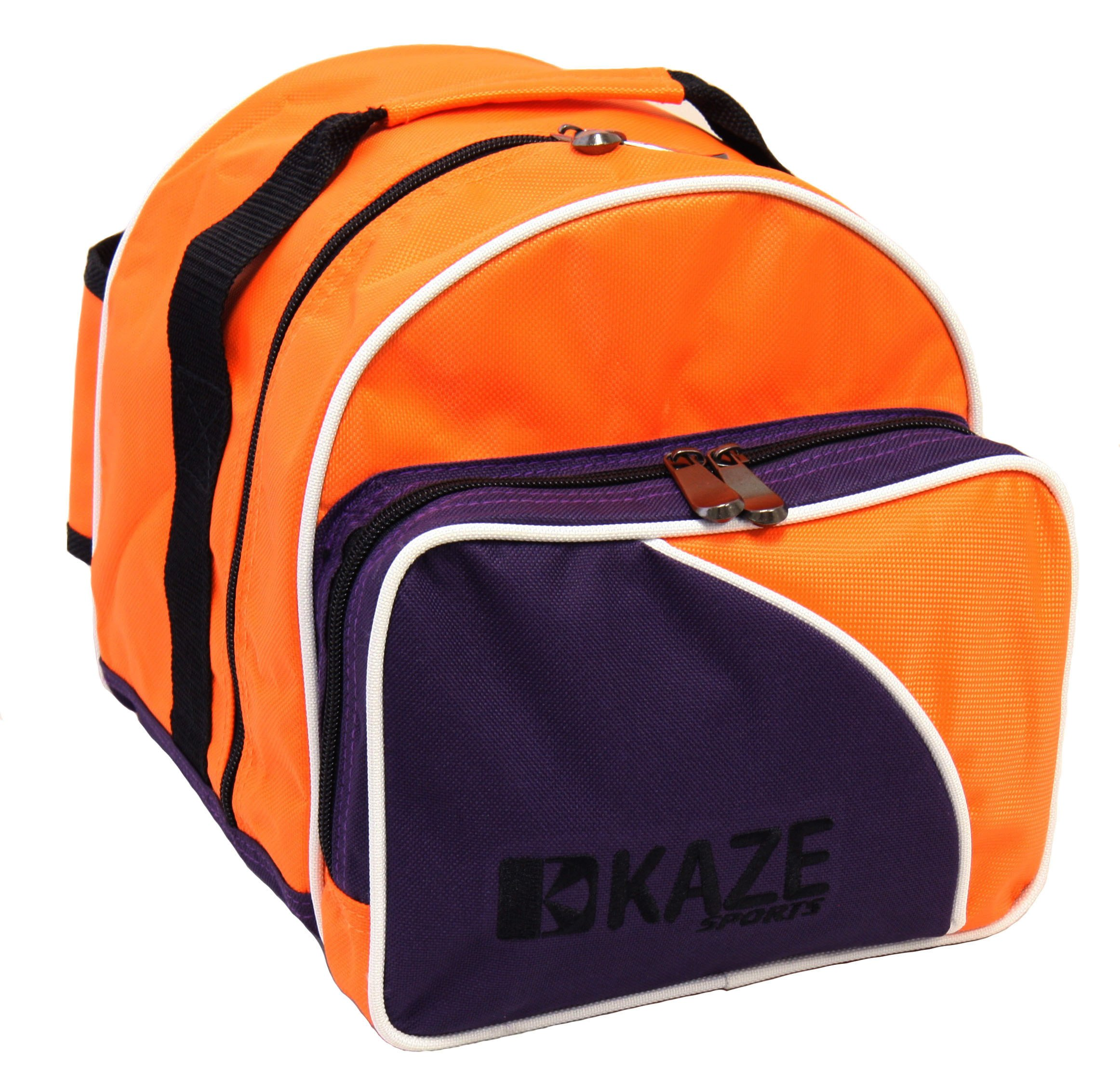 KAZE SPORTS 1 Ball Spare Kit Single Tote Bowling Add On Bag, Orange-Purple by KAZE SPORTS