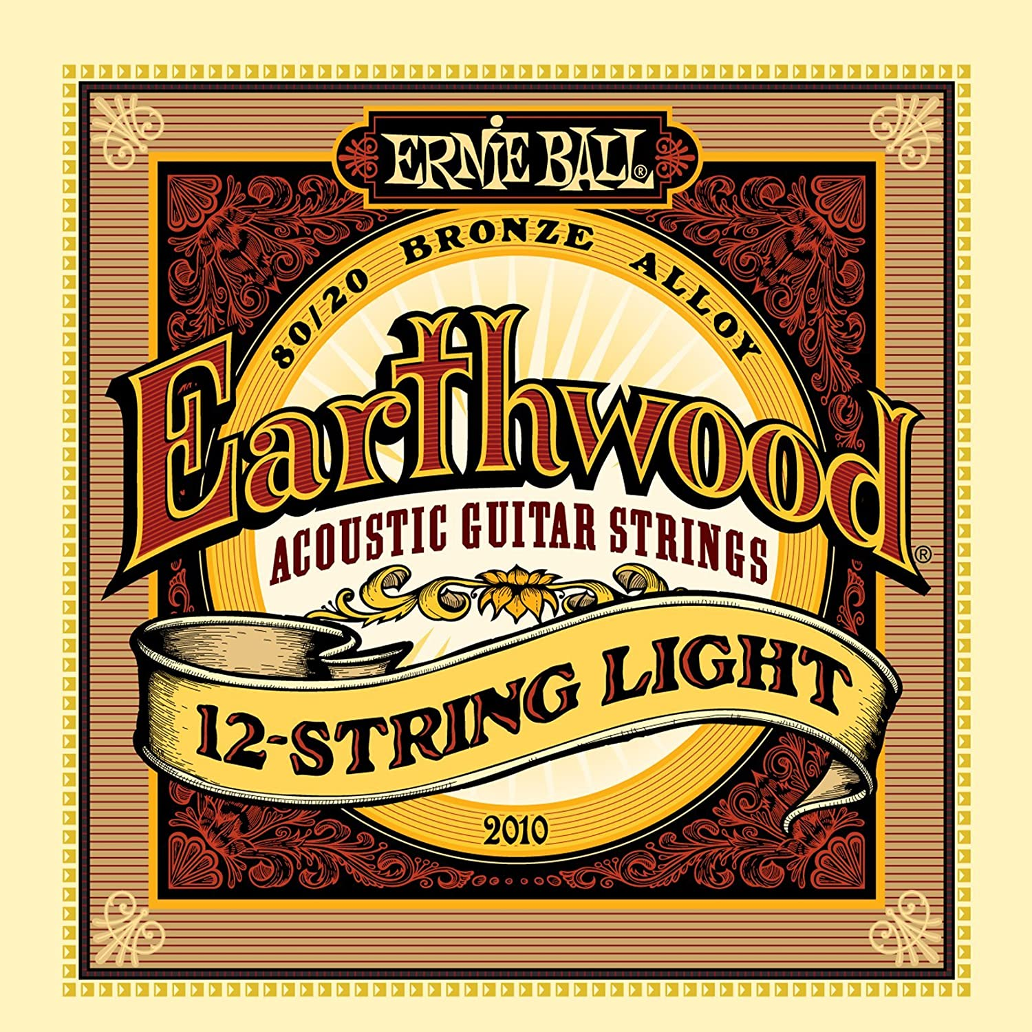 Ernie Ball Earthwood Light 80/20 Bronze Acoustic Set, .011 - .052 P02004