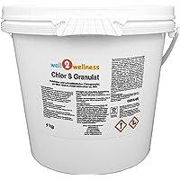 well2wellness Chlor S Granulat - schnell lösliches Chlorgranulat mit über 60% Aktivchlor, 5,0 kg